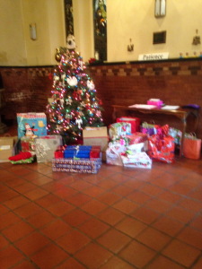 Our gifts for some needy families in the Area..Merry Christmas to them